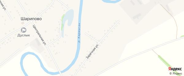 Улица Кармасан на карте села Шарипово Башкортостана с номерами домов