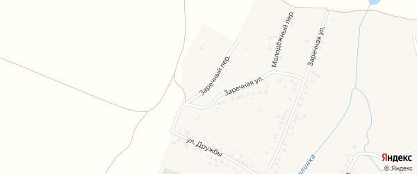 Улица Дружбы на карте села Нурлино Башкортостана с номерами домов