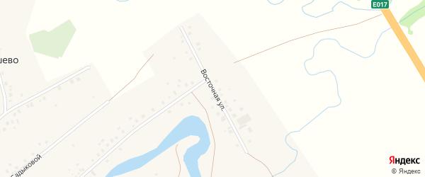 Восточная улица на карте села Шарипово Башкортостана с номерами домов
