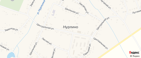 Береговая улица на карте села Нурлино Башкортостана с номерами домов