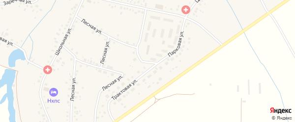 Комсомольская улица на карте села Нурлино Башкортостана с номерами домов