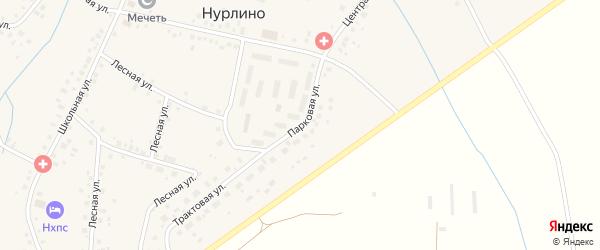 Парковая улица на карте села Нурлино с номерами домов