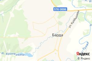 Карта с. Барда Пермский край