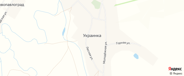 Карта села Украинки в Оренбургской области с улицами и номерами домов