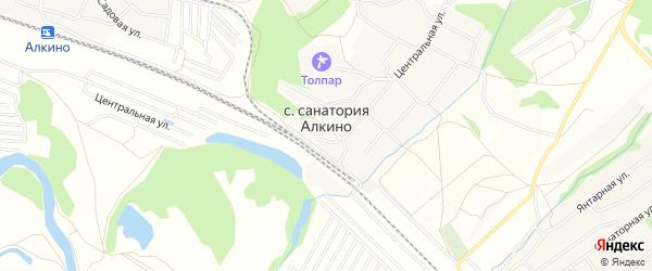 Карта села Санатория Алкино в Башкортостане с улицами и номерами домов