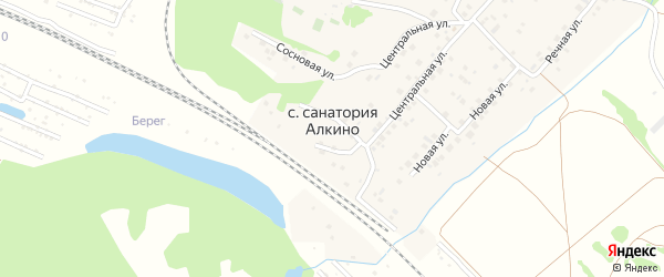 Сосновая улица на карте села Санатория