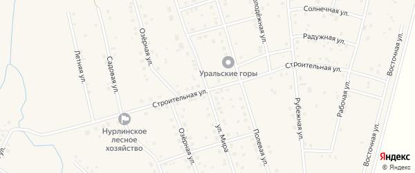 Улица Мира на карте села Нурлино с номерами домов