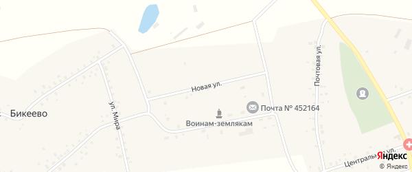 Новая улица на карте села Бикеево с номерами домов