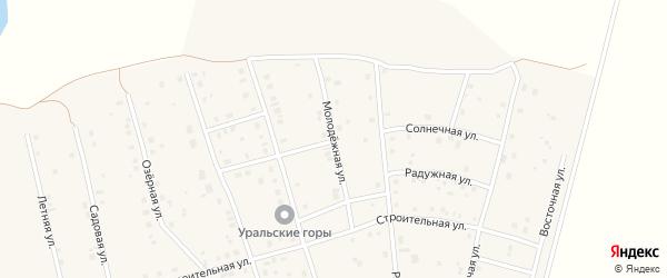 Молодежная улица на карте села Нурлино Башкортостана с номерами домов
