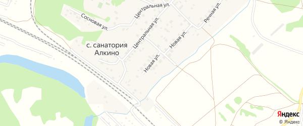 Новая улица на карте села Санатория Алкино с номерами домов