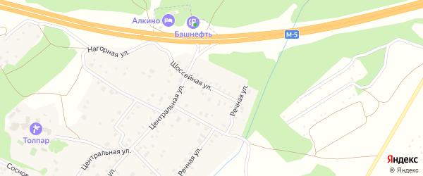 Шоссейная улица на карте села Санатория