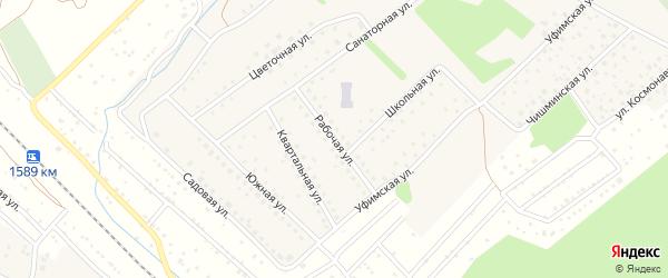 Рабочая улица на карте села Санатория Алкино с номерами домов