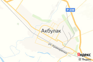 Карта пос. Акбулак Оренбургская область