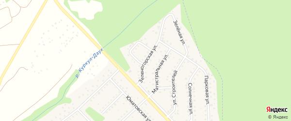 Зеленогорская улица на карте села Санатория