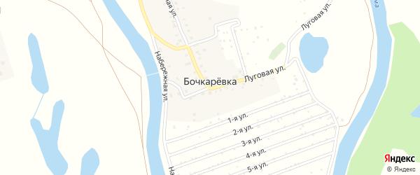 Набережная улица на карте деревни Бочкаревки Башкортостана с номерами домов