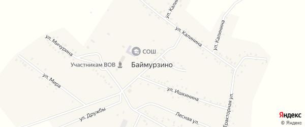 Садовая улица на карте деревни Баймурзино с номерами домов