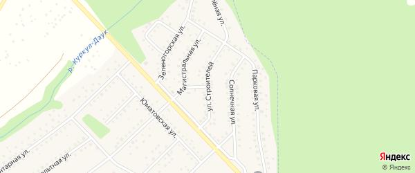 Улица Строителей на карте села Санатория Алкино с номерами домов