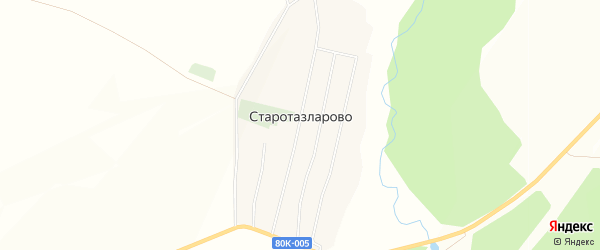 Карта деревни Старотазларово в Башкортостане с улицами и номерами домов