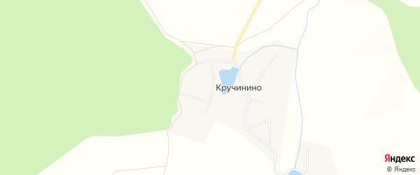 Карта деревни Кручинино в Башкортостане с улицами и номерами домов