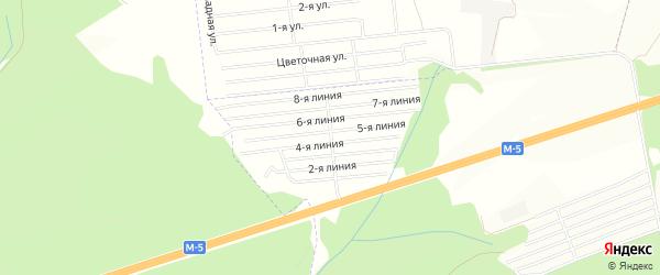 СНТ Отдых на карте Уфимского района Башкортостана с номерами домов