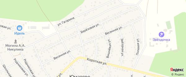 Весенняя улица на карте деревни Юматово с номерами домов