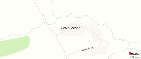 Дачная улица на карте деревни Ломоносово с номерами домов