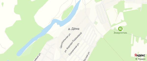 Карта деревни Демы в Башкортостане с улицами и номерами домов