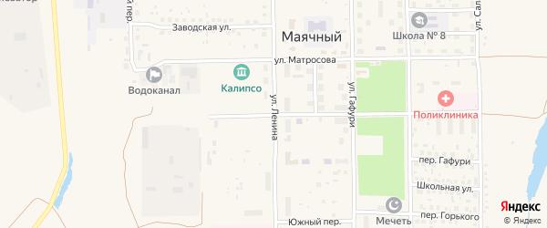 Улица Ленина на карте села Маячного с номерами домов