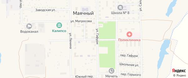 Социалистическая улица на карте села Маячного с номерами домов
