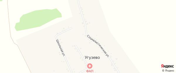 Социалистическая улица на карте села Угузево Башкортостана с номерами домов