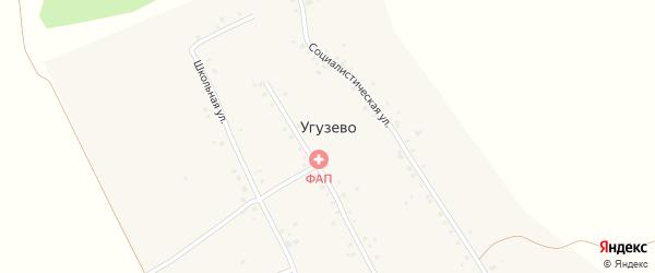 Коммунистическая улица на карте села Угузево Башкортостана с номерами домов
