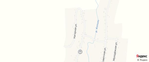 Нагорная улица на карте деревни Каргино с номерами домов