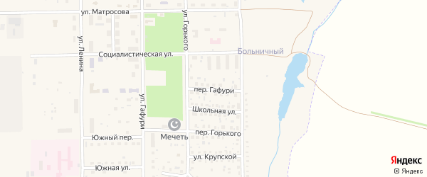 Переулок Гафури на карте села Маячного с номерами домов