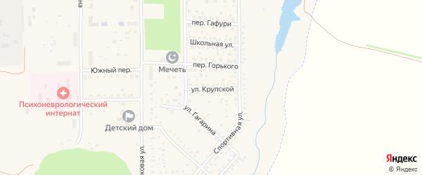 Улица Крупской на карте села Маячного с номерами домов
