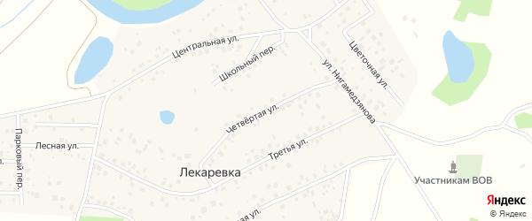 Четвертая улица на карте деревни Лекаревки с номерами домов