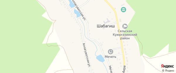 Аллагуватская улица на карте деревни Шабагиша с номерами домов