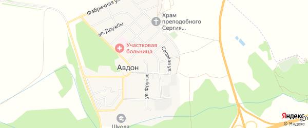 Карта села Авдон в Башкортостане с улицами и номерами домов