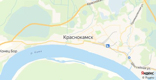 Карта Краснокамска с улицами и домами подробная. Показать со спутника номера домов онлайн