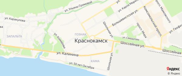 ГСК 51 (Пушкина ул) на карте Краснокамска с номерами домов