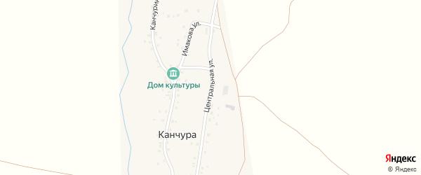 Центральная улица на карте деревни Канчуры Башкортостана с номерами домов