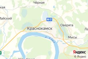 Карта г. Краснокамск
