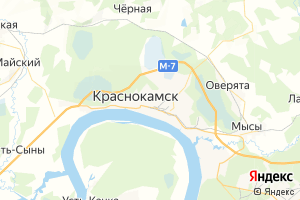Карта г. Краснокамск Пермский край