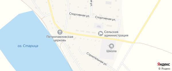 Центральная улица на карте села Калинники с номерами домов