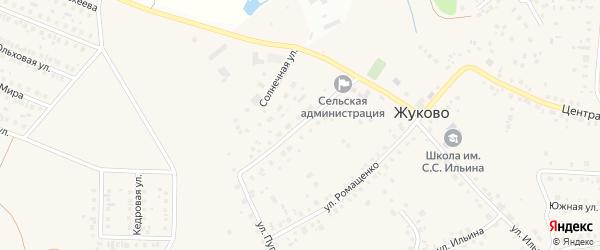 Молодежная улица на карте села Жуково с номерами домов
