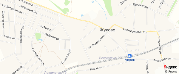 Карта села Жуково в Башкортостане с улицами и номерами домов