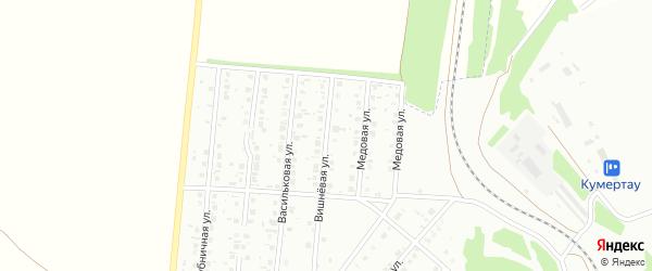 Вишневая улица на карте Кумертау с номерами домов