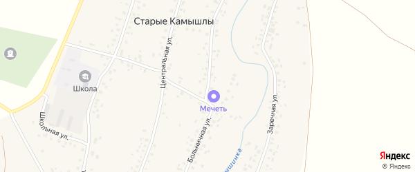 Больничная улица на карте села Старых Камышлы с номерами домов