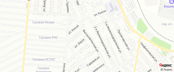 Высоковольтная улица на карте Кумертау с номерами домов