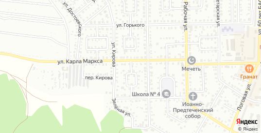 К.Маркса 2-й переулок в Кумертау с номерами домов на карте. Спутник и схема онлайн