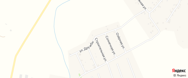 Улица Дружбы на карте села Старых Камышлы Башкортостана с номерами домов